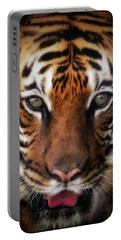 Big Cat Stare Down Portable Battery Charger