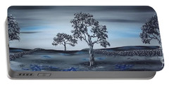 Portable Battery Charger featuring the painting Big Country by Kenneth Clarke