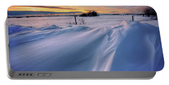Portable Battery Charger featuring the photograph Big Drifts by Dan Jurak