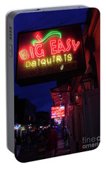 Portable Battery Charger featuring the photograph Big Easy Sign by Steven Spak