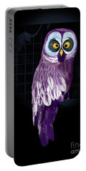 Portable Battery Charger featuring the digital art Big Eyed Owl by Mariella Wassing