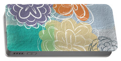 Big Flowers Portable Battery Charger by Linda Woods