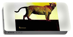 Big Game Africa - Leopard Portable Battery Charger by Sadie Reneau