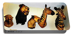 Big Game Africa - Zebras And Lions Portable Battery Charger by Sadie Reneau