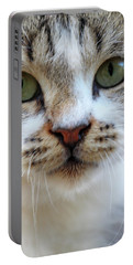 Portable Battery Charger featuring the photograph Big Green Eyes by Munir Alawi