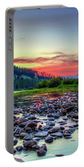 Portable Battery Charger featuring the photograph Big Hole River Sunset by Bryan Carter