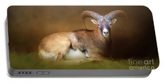 Big Horn Sheep Portable Battery Charger by Marion Johnson