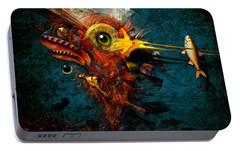 Portable Battery Charger featuring the painting Big Hunter by Alexa Szlavics
