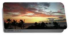 Portable Battery Charger featuring the photograph Big Island Sunset #2 by Anthony Jones