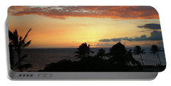 Portable Battery Charger featuring the photograph Big Island Sunset by Anthony Jones