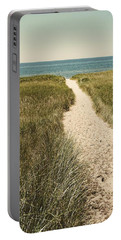 Portable Battery Charger featuring the photograph Big Lake Beach Path by Michelle Calkins