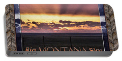 Portable Battery Charger featuring the photograph Big Montana Sky by Susan Kinney