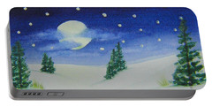 Big Moon Christmas Portable Battery Charger