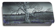 Portable Battery Charger featuring the painting Big Old Tree by Kenneth Clarke