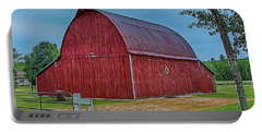 Portable Battery Charger featuring the photograph Big Red Barn At Cross Village by Bill Gallagher