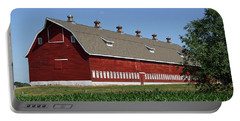 Big Red Barn In Spring Portable Battery Charger