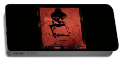 Portable Battery Charger featuring the painting Big Red Buddha by Kandy Hurley