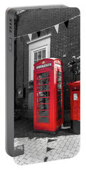 Portable Battery Charger featuring the photograph Big Red Little Red by Scott Carruthers