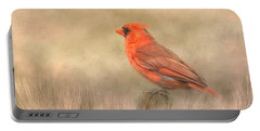 Big Red Portable Battery Charger by Steven Richardson
