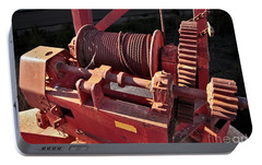 Portable Battery Charger featuring the photograph Big Red Winch by Stephen Mitchell