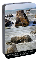 Portable Battery Charger featuring the photograph Big Rocks In Grey Water Duo by Barbara Snyder