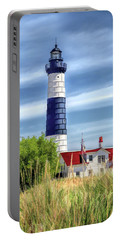 Portable Battery Charger featuring the painting Big Sable Point by Christopher Arndt