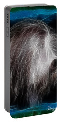 Portable Battery Charger featuring the photograph Big Shaggy Dog by EricaMaxine  Price
