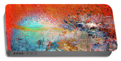 Big Shot - Orange And Blue Colorful Happy Abstract Art Painting Portable Battery Charger