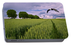 Portable Battery Charger featuring the photograph Big Sky by David Dehner