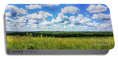 Portable Battery Charger featuring the photograph Big Sky -wisconsin -color by Ricky L Jones