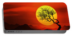 Big Sunset Portable Battery Charger by Bess Hamiti
