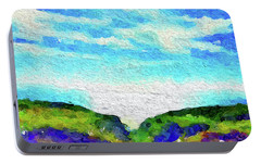 Portable Battery Charger featuring the painting Big Sur by Joan Reese