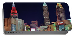 Portable Battery Charger featuring the photograph Big Three In Cle by Frozen in Time Fine Art Photography