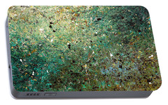Portable Battery Charger featuring the painting Big Universe - Abstract Art by Carmen Guedez