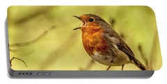 Portable Battery Charger featuring the photograph Big Voice Robin  by Cliff Norton