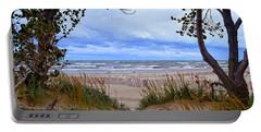 Big Waves On Lake Michigan 2.0 Portable Battery Charger