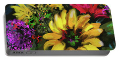 Big Yellow Flower Portable Battery Charger