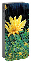 Portable Battery Charger featuring the painting Big Yellow by Ian  MacDonald