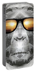 Portable Battery Charger featuring the digital art Bigfoot In Shades by Phil Perkins