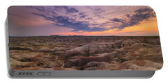 Bigfoot Overlook Sunset At Badlands South Dakota Portable Battery Charger