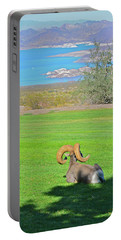 Bighorn Sheep Above Lake Mead Portable Battery Charger