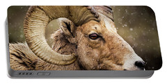 Bighorn Sheep In Winter Portable Battery Charger