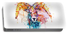 Bighorn Sheep Portrait Portable Battery Charger