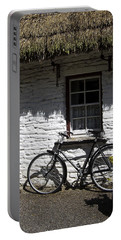 Bike At The Window County Clare Ireland Portable Battery Charger
