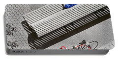 Portable Battery Charger featuring the photograph Bike Break by Keith Armstrong