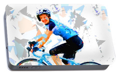 Portable Battery Charger featuring the painting Biker 1 by Movie Poster Prints