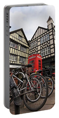 Portable Battery Charger featuring the photograph Bikes Galore In Cambridge by Gill Billington