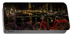 Bikes Over The Prinsengracht Portable Battery Charger