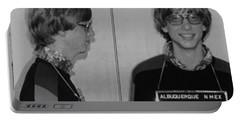 Bill Gates Mug Shot Horizontal Black And White Portable Battery Charger