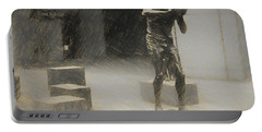 Bill Russell Statue Portable Battery Charger